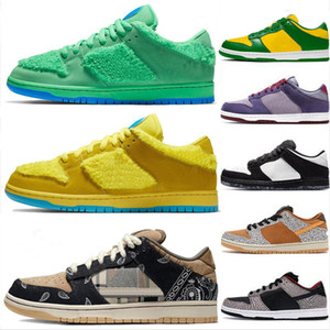 Wholesale plate bearing for sale - Group buy Hot Dunky Orange Yellow Bear Chunky Dunky Mens Sports Sneakers Safari Dunks Plate forme Casual Platform Low Women Running Shoes Skateboard
