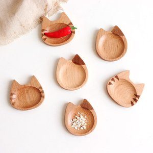 Kitchen Wooden Plates Sauce Dish Plates Seasoned Mustard Bowl Sauce Saucer Small Vinegar Taste Board Snack Tray Food Plate