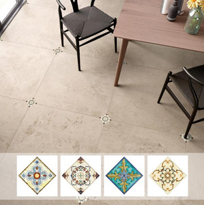 Wholesale bathroom floors tiles resale online - Ceramic tile flooring tile stickers living room shelter decorative stickers diagonal stickers bathroom floor sticker creative decorative