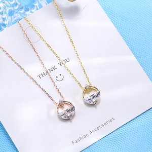 Wholesale valentines day gold jewelry for sale - Group buy 925 Sterling Silver Necklace Valentines Day Creative Gift Women Fashion Designer Necklace Jewelry Sterling Silver Jewelry VTKY2299