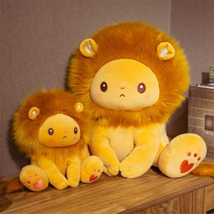 Wholesale animals zoos for sale - Group buy 25 cm Golden Adorable Lion Toy Plush Stuffed Sitting Lions Little Zoo Animal Cute Cartoon Plushie Children Appeasing Gift