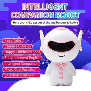 Wholesale intelligent baby toys resale online - Kid Fun interactive study Robot Toys Cute Intelligent Robot Toys Singing Robot Kid Early education Toy Kid Baby Gifts