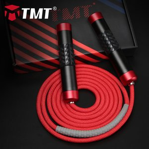 Wholesale battle rope for sale - Group buy TMT Weighted Jump Battle Rope Crossfit Aluminum Alloy Handle for Fitness Boxing Training Adjustable Heavy Wire Speed Skipping m