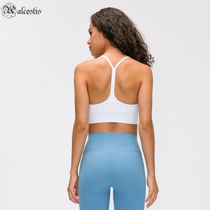 mechanik kleidung großhandel-Yoga Bra Gym Büstenhalter Kleidung Outfit Slim Solide Weste Cross Body Mechanics Sport Elastisch Outdoor Workout Jogging Fitness Laufen