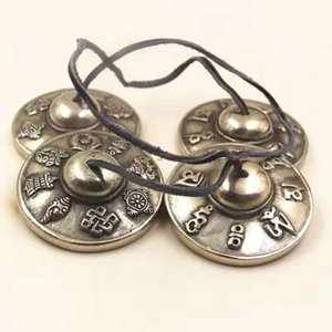 Wholesale copper cymbals resale online - 6 cm Tibetan Bell Meditation Handcrafted Cymbal Bell Copper Crisp Sound Lucky Symbols Buddhist Temple1