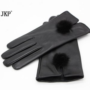 Wholesale gloves doll for sale - Group buy Hot Dermis Women s Leather Gloves Mink Hairballs Fur and Autumn Women s Solid Adult Dolls Gloves Leather