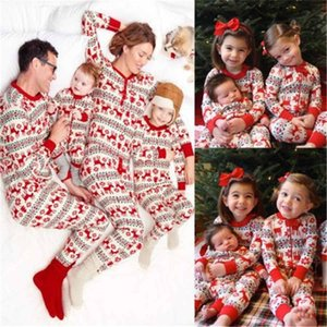 Wholesale pajamas family for sale - Group buy Family Christmas Matching Pajamas Set Xmas Family Matching Clothes Xmas Adult Kids Baby Family Sleepwear