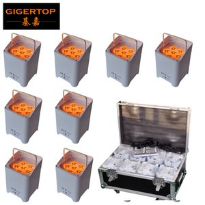 Wholesale cast light resale online - Freeshipping in1 Charging Flightcase Pack x6W Casting Aluminum Led Par Light RGBWA UV IN1 Battery Wireless Remote Control TP B06