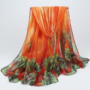 Wholesale cotton voile scarves for sale - Group buy 2020 women s spring and autumn leaves cotton shawl scarves shawls sun visor Bohemian voile scarves hijab