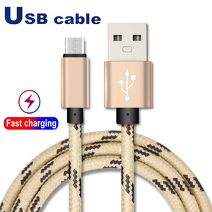 Wholesale types braids for sale - Group buy USB Cable Type C cables Adapter Data Sync Charging Phone Thickness Strong Braided micro Premium