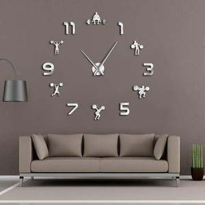 remise en forme miroir achat en gros de-news_sitemap_homeHealthlifting Fitness Room Decor Diy Giant Mirror Effect Powerlifting Framedeless Grande Montre mural Gym Gym Y1218