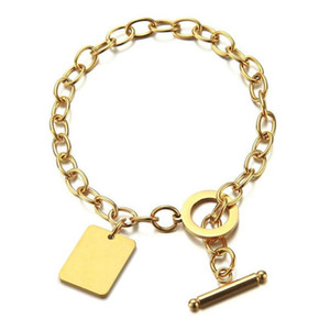 Wholesale braclets for charms for sale - Group buy Women s Hand Bracelet Braclets Gold Color Stainless Steel Chain Square Charm Bracelets for Women Girls Jewelry