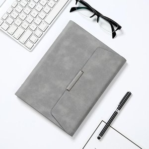 Wholesale a5 binders resale online - A5 B5 File Folder Notebook Business Padfolio Leather Notepad Binder Manager Document Case Organizer Hand Clip School Note Books1