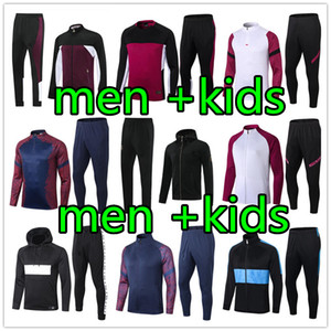 Wholesale girl s jackets for sale - Group buy new kids tracksuit men hoodie jacket Survetement football jackets kids soccer TRACKSUIT
