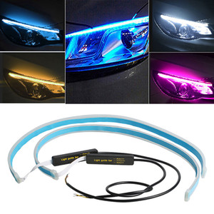 Wholesale led cars lights for sale - Group buy Car Light Assembly cm Led DRL Daytime Running Lights Turn Signal Waterproof Flexible Soft Guide DRL LED Strip