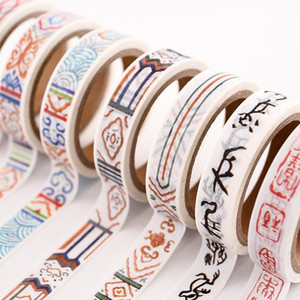 Wholesale scrapbook adhesive tape for sale - Group buy 1 Pc Retro Decorative Paper Sticker DIY Crafts Scrapbook Journal Flower Adhesive Stickers Scrapbooking Masking Tape Washi Tape