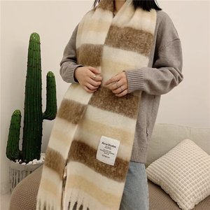 Wholesale cotton scarves stoles resale online - Autumn winter Scarf Top Super Pure Cashmere thick Womens Soft Tassel style Designer Shawl luxury scarves l Acne Scarf l