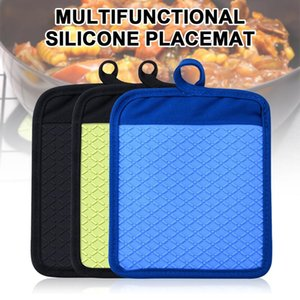 Wholesale pots holders for sale - Group buy Heat Resistant Silicone Mat Drink Cup Coasters Non slip Pot Holder Table Placemat Kitchen Accessories
