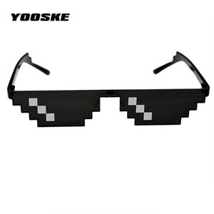 gafas de sol de ofertas al por mayor-Yooske Deal With It Glasses Mosaic Pixel Thug Life Sun Sunglasses Hombres Party Eyewear DealWeithit Thug Life Popular en todo el mundo