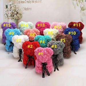 10pcs New Valentine's Day Gift PE Rose Bear Toys Stuffed Full Of Love Romantic Teddy Bears Doll Cute GirlFriend Children Present 25CM