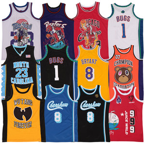 Wholesale rap gold for sale - Group buy JUICE WRLD LYRICAL LEMONADE Wu Tang Crenshaw Bryant Kanye West Graduation Album Cover Basketball Hip Hop Rap Jerseys