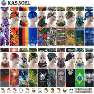100pcs lot Wholesale Assorted Styles Microfiber Outdoor Sport Mask Magic Face Bandanas Tubular Multifunctional Seamless Wear Neck Gaiter