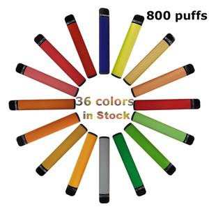 3.2ml Carts 800 puffs Disposable Vape Pen 36 colors Custom Black Packaging Box E-cigarette Kits Empty Vaporizer 550mah Battery Security Code
