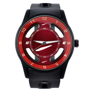 Fashion Sports Mens Watches Classic Style Clocks High Quality Rubber Strap Wristwatches For Man 6 Colors Available