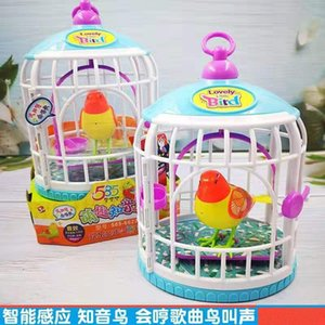 Wholesale bird calls for sale - Group buy Intelligent induction cage cute fun bosom friend can sing and dance bird calls children s electric toys