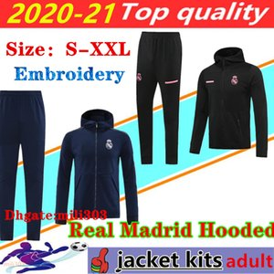 2020 2021 Real Madrid men tracksuit soccer jacket Chandal 20 21 camiseta de futbol HAZARD BENZEMA football Hooded jackets training suit
