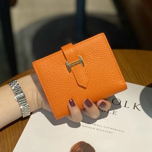 Wholesale design purses resale online - Womens Wallets and Purses Genuine Leather Fashion Short Money Bag Phone Luxury Design Hasp Purse Small Wallet Q1220