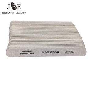 100pcs lot Wooden Double-sided Buffer Nail Files 180 240 Pedicure Nail Art UV Gel Polisher Grey Thick lime a ongle professionel