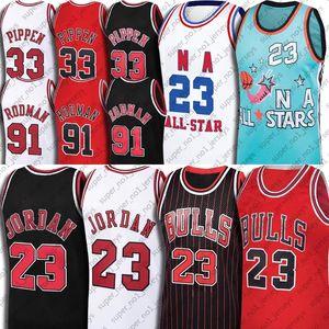 Michael Jersey 91 Dennis Rodman Jerseys 33 Scottie Pippen Jersey ChicagoBullJersey Vintage Basketball Tar Heel Dream Team Jersey