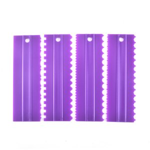 Wholesale plastic comb set resale online - Personalised Baking Pastry Tools SET Cake Decorating Comb and Icing Smoother Plastic Cake Scraper Set For Kitchen