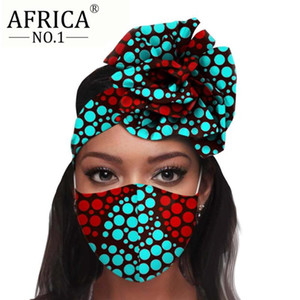 Wholesale african masks for sale - Group buy 2020 African Headwear Floral Turban Pieces for Women Headscarf Match Print Mask Ladies Head Wrap Headband Accessories A20H015