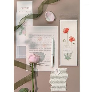 Wholesale office illustrations for sale - Group buy Beautiful Flower Envelope Writing Paper Set Garden Series Envelopes Letter Paper Fresh Illustration School Office Stationery1