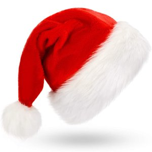 Wholesale santa hats for sale - Group buy Christmas Cap Santa Hat For Both Adults And Children Christmas New Year Festive Holiday Party Supplies JK2010PH