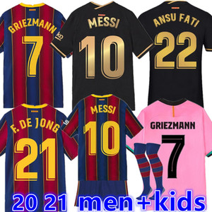 NEW 20 21 Soccer Jersey ANSU FATI F.DE JONG 17 GRIEZMANN 2020 2021 COUTINHO SUAREZ MALCOM PIQUE VIDAL Barcelona football shirts