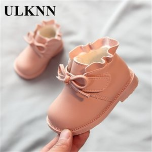 Wholesale crochet winter dress girls for sale - Group buy ULKNN Toddler Pink Shoes Winter Years Old Baby Girls Ankle Boots Soft Bottom Princess Party Dress Cotton Footwears Leather Y201028