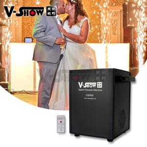 650W Mini Stage Special Effects Cold Fire Flame Spray Machine Hotel Wedding Bar Wedding Electronic Machine 4pcs with Flightcase+20 powders
