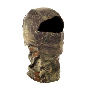 Wholesale tactical helmet paintball mask for sale - Group buy Multicam Camouflage Tactical Hood Mask Quick Dry Hunt Full Face Mask Paintball War Game Helmet Army Military Face Mask