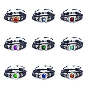 Hot Game Among Us Bracelet for Men Women Kids Adjustable Black PU Leather Bracelets 17 Styles Family Christmas Gift DHL Free