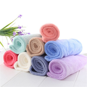 Wholesale round face hair resale online - Womens Bath Dry Hair Towel Coral Velvet Hooded Towels Polyeter Multi Colours Drying Hair Absorbent Good Bath Hat ch L2
