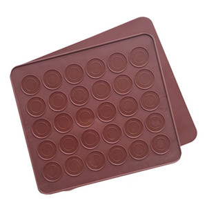 Wholesale biscuit color resale online - Biscuits Molds Solid Color Chocolates Silicone Mold Hole Holes Household Mould Baking Tools Simplicity High Quality jm2 P2