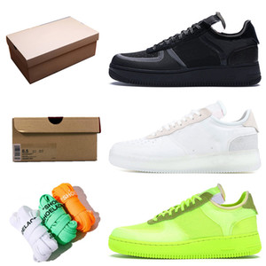 Wholesale one round resale online - With Box Top Quality Mesh Mens Womens Casual Shoes One Pure White Black Volt Fly Knit Jogging Sports Mens Trainers Platform Sneakers