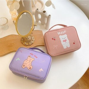 Wholesale cute travel accessories for sale - Group buy Harajuku Cute Waterproof Cosmetic Bag Large Capacity Travel Toiletry Storage Bag Case Accessories Item organizer Toilet Bags1