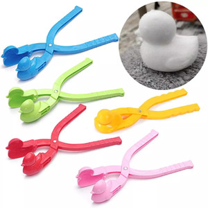Wholesale duck toys for kids resale online - Snowball Maker Plastic Clip Kids Outdoor Sand Snow Ball Mold Toys Fight Duck Snowman Maker Clip Toy For Children w