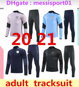 2020 2021 manchester training suit soccer jersey set 2020 city KUN AGUERO KOMPANY DE BRUYNE training suit kit