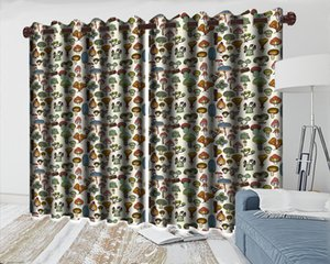 Wholesale make curtains resale online - Custom Made Window d Curtain Draped Curtain Various Beautiful Mushrooms Interior Decoration Practical Blackout Curtains