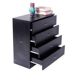 Wholesale wood dressers for sale - Group buy MDF Wood Simple Drawer Dresser Black